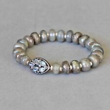U&C Sundance Rainbow Moonstone Diamond Pave Labradorite Sterling Silver Bracelet