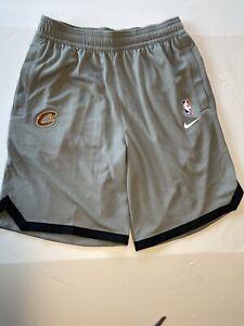 Rare Nike NBA Cleveland Cavs Team Issue basketball Shorts Gray Sz Med Dri-Fit