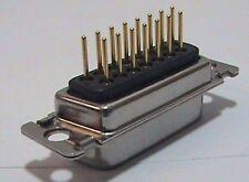 14 each ITT Cannon 83-67403-1 Sub-D Connector DSUB 15 M PCB STR G50 F225