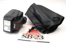 【Mint】 Nikon Speedlight SB-23 W/Pouch Shoe Mount Flash for Nikon DHL✈ from Japan