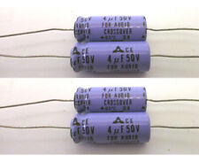 4 (Four) 4Mf 50V Capacitors for Speaker Non-Polarized Crossovers Parts