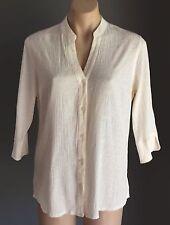 Stylish Great Condition NONI B Cream 3/4 Sleeve Shirt Size12