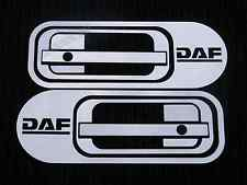 2x Stainless Steel Door Handle Plate Cover Decorations for DAF XF 95 105  trucks