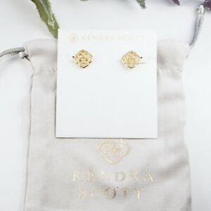 Kendra Scott Dira Stud Earrings In Gold  Authentic