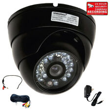 Security Camera Outdoor Ir Ccdnight Wide Angle Lens w/ Audio Mic Power Cable Cf6