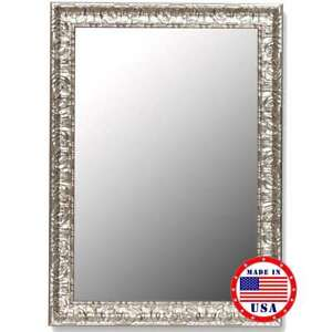 """Hitchcock Butterfield 35"""" X 45"""" Antique Mayan Silver Framed Wall Mirror - 270103"""