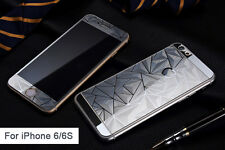 3D Design Designer Cut Tempered Glass Screen Protector for iPhone 6/6S - Silver