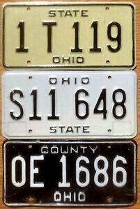 Three Ohio Plates Number Tag Plate Lot