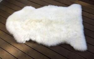 White Sheepskin Long Wool Rug Soft Aust Whole Longwool Hair Pile Mat 3 x Sizes