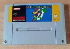 Super Nintendo SNES PAL Game Super Mario World Cartridge
