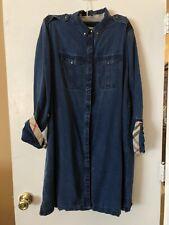 Burberry Brit Long Sleeve Soft Washed Denim Dress US 14