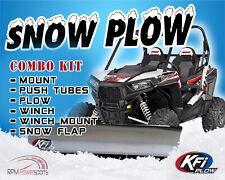 """KFI John Deere Gator 625i 825i 855 '13-'18 Plow Complete Kit 72"""" Straight Blade"""
