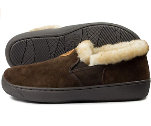 ARIAT MEN'S SLIPPER SHOE US 9.5 - 10 2237 CHOCOLATE BROWN SUEDE LEATHER NEW NWT