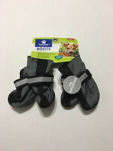 Top Paw Dog Boots Size XS Extra Small Gray Reflective