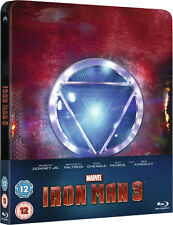 Iron Man 3 Blu Ray U.K Limited Edition Steelbook Zavvi