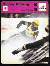 1978 Sportscaster Card Motorcycle Racing Ice Racing # 21-11 NRMINT.