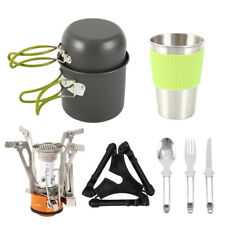 10Pcs/Set Portable Camping Cookware Kit Outdoor Picnic Tent Cooking Equipment