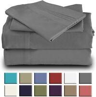 Okao Home Goods Luxury Bamboo Sheet Set Soft Hypoallergenic Deep Pocket 4 Pc Set