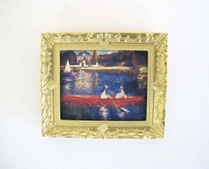 Dolls House Miniature 1:12th Scale Monet Boating Picture