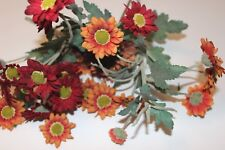 Retro Silk Plant Sunflower Picks Wreath Pieces Fall Foliage