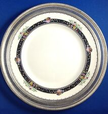 VINTAGE LENOX CORONADO HAND ENAMELED PLATE WITH STERLING SILVER FRAME, 10 5/8 IN