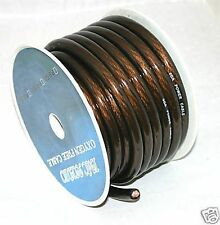 IMC AUDIO 2 Gauge 20' Ft Ground Wire Cable Black Power Car Audio Amp Awg