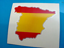 España Bandera Y Mapa Casco De Motocicleta van Car calcomanía calcomanía 1 De 80 Mm