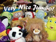 "Plush ""JUMBO SIZE"" $2.50 avg. Colorful Crane, Claw Machines / Stuffed Animals"