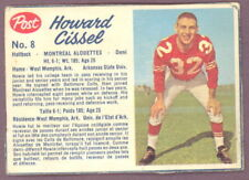 1962 POST CFL FOOTBALL #8 HOWARD CISSEL VG-EX MONTREAL ALOUETTES BALTIMORE COLTS