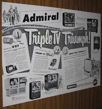 1951 AD~ADMIRAL TV SETS~6 TELEVISION MODELS  BX-LA