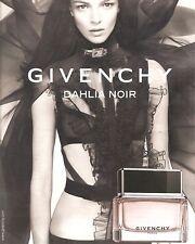 PUBLICITE ADVERTISING 2011 Parfum Dahlia Noir de GIVENCHY Maria Carla Boscono