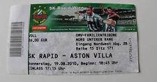 OLD TICKET EL Rapid Wien Austria Aston Villa FC England
