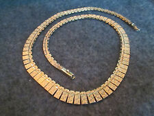 Solid 14k yellow gold ladies necklace, at 33.2grams total, 16.3 inches