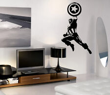 VINILO DECORATIVO PARED SALÓN DECORACIÓN CAPITAN AMERICA STICKER DECAL VINILOS
