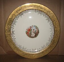 VTG 22kt Gold Plate Ancient scene in the middle