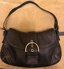 Coach Black Leather Soho Buckle Flap Handbag 9248 Excellent Condition