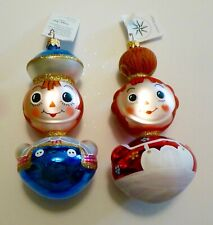 Christopher Radko Ragamuffins Christmas Ornaments Raggedy Ann and Andy #96-052-0