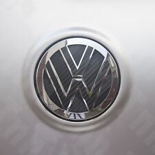 VW Black Carbon Fibre Style Inserts Sticker for Rear Badge MK4 MK5 MK6 GOLF GTI