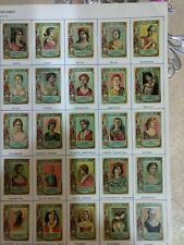 SET 75 1890S HISTORIC PEOPLE IN HISTORY SPAIN MATCHBOX LABEL INSERTS