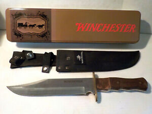 WINCHESTER Bowie Knife w SHEATH in orig collectors tin, never been used VGOC