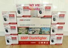 Hikvision Darkfighter 4,6,8,12,16, DS-2CD2365G1-I 6MP IP Cameras NVR Kit AUS
