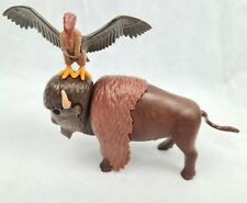 Vintage 1988 Playmobil Buffalo Bison & Turkey Vulture Cowboy Western Figure Toy