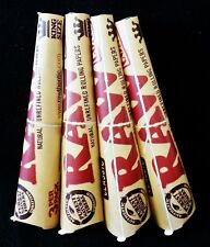 4 Packs Raw King Size Natural Gum Hemp Prerolled Rolling Paper Cones (12 Total)