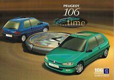 Peugeot 106 Time & Extra Time Limited Edition 1996-97 UK Market Sales Brochure