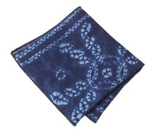 NEW Pocket Square Handkerchief Paisley Indigo Made w/ Ralph Lauren Fabric RRL