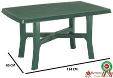 Tavolo tavolino rettangolare in resina di plastica verde per esterno da giardino