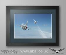 Framed English Electric Lightning F.6 QRA TU-95 intercept Digital Art Print