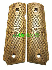 Real Wood Hand Grip For Marui/WE/KJ/BELL/1911/MEU GBB Airsoft (BLACKWATER)
