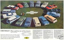 "5x7""photo REPRINT GM CHEVROLET ADVERTISING 1959 NOMAD IMPALA BEL AIR CORVETTE"