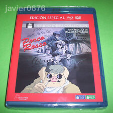 PORCO ROSSO STUDIO GHIBLI COLLECTION BLU-RAY + DVD NUEVO Y PRECINTADO